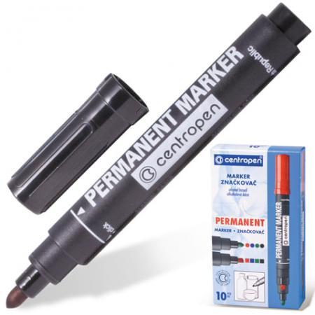 Маркер перманентный Centropen 8866/1,8566/4 2.5 мм черный 150061