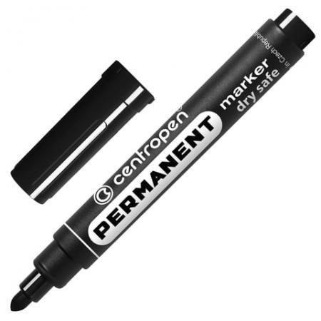 Маркер перманентный Centropen 8510/Ч 2.5 мм черный 151100 цена