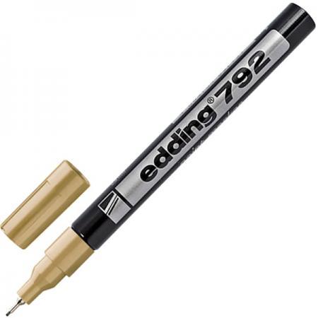 Маркер-краска лаковый Edding Маркер-краска лаковый 0.8 мм золотистый маркер краска лаковый edding маркер краска лаковый 1 2 мм черный