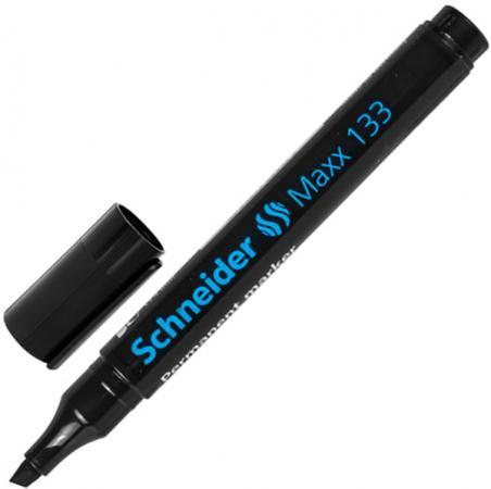 Маркер перманентный SCHNEIDER Маркер перманентный 1-4 мм черный маркер перманентный f черный