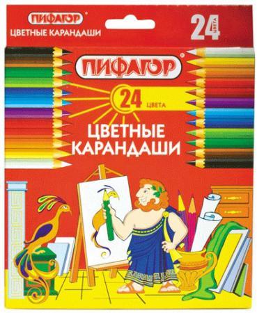 Набор цветных карандашей ПИФАГОР 180298 24 шт 176 мм
