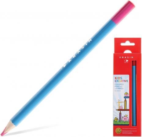 Набор цветных карандашей Красин Jumbo Птички - Невелички 06KW000202T 6 шт 177 мм утолщенные набор цветных карандашей феникс лошадь 32869 деревянные 6 шт