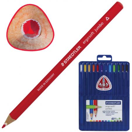 """Набор цветных карандашей Staedtler """"Ergosoft"""" 12 шт 175 мм утолщенные"""