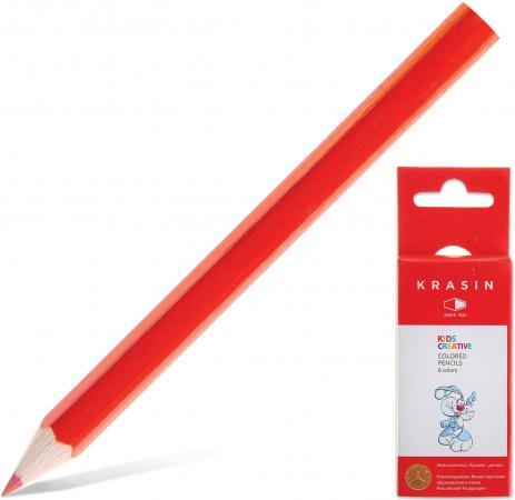 Набор цветных карандашей Красин Веселый кролик 06KW000102H 6 шт 88 мм веселый хоровод набор горнов разноцветные котики 6 шт
