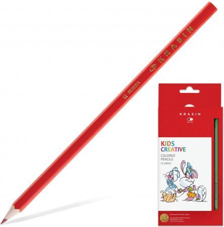 Набор цветных карандашей Красин Веселый кролик 12KW000101H 12 шт 177 мм набор цветных карандашей transformers prime 12 шт