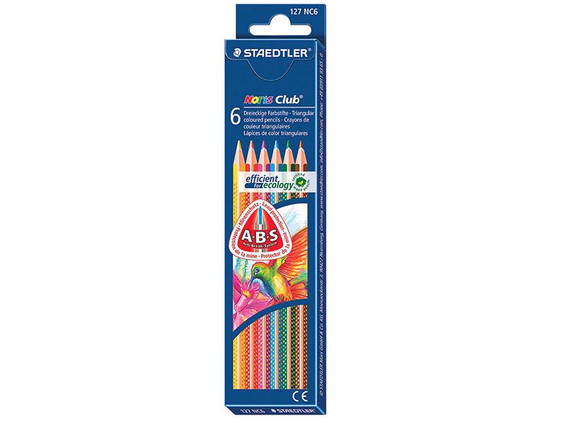 Набор карандашей Staedtler Noris club 127 6 шт 175 мм ручка капиллярная staedtler triplus broadliner 338 box338 30 цвет чернил голубой 10 шт