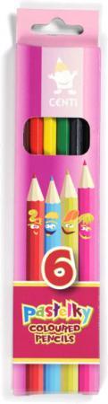 Карандаши цветные KOH-I-NOOR Centi, 6 цветов, грифель 2,65 мм, заточенные, европодвес, 2141006002K карандаши восковые мелки пастель koh i noor мелки масляные 6 цветов
