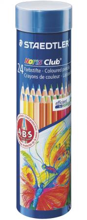 """Набор цветных карандашей Staedtler """"Noris club"""" 24 шт 175 мм в тубусе"""