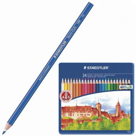 """Набор цветных карандашей Staedtler """"Noris club"""" 24 шт 175 мм"""