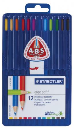 Набор цветных карандашей Staedtler Ergosoft 12 шт 175 мм staedtler staedtler акварельные карандаши ergosoft 12 цветов