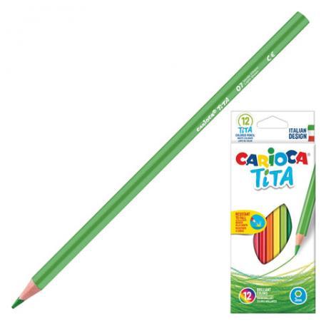 Набор цветных карандашей CARIOCA Tita 12 шт 174 мм carioca набор крупных цветных карандашей tita maxi 6 цветов