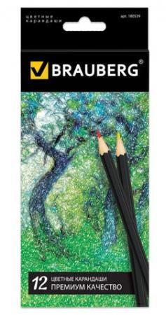 Набор цветных карандашей BRAUBERG Artist line 12 шт 176 мм набор цветных карандашей transformers prime 12 шт