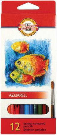 Набор акварельных карандашей Koh-i-Noor Fish 12 шт