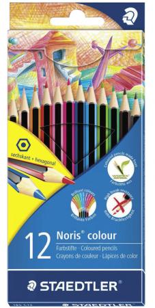 Набор цветных карандашей Staedtler Noris Color Ecology 12 шт 175 мм ручка капиллярная staedtler triplus broadliner 338 box338 30 цвет чернил голубой 10 шт