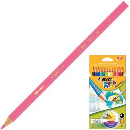 Карандаши цветные акварельные BIC Aquacouleur, 12 цветов, заточенные, европодвес, 8575613 цветные карандаши stabilo 12 цветов