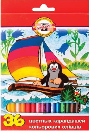 Набор цветных карандашей Koh-i-Noor Крот 36 шт 175 мм набор цветных карандашей koh i noor света 6 шт 17 5 см 3651 6 27ks 3651 6 27ks