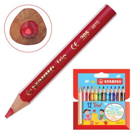 Набор цветных карандашей Stabilo Trio 205/12 12 шт утолщенные 181104 набор цветных карандашей transformers prime 12 шт