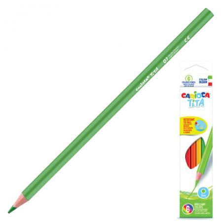 Набор цветных карандашей CARIOCA Tita 6 шт 174 мм