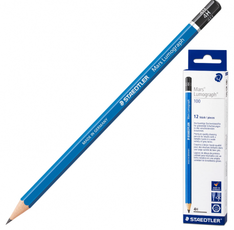 Карандаш графитовый Staedtler Mars Lumograph 175 мм 4H карандаш графитовый