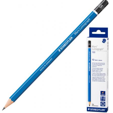 Карандаш графитовый Staedtler Mars Lumograph 175 мм 5H карандаш графитовый