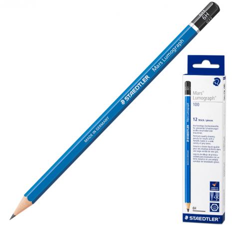 Карандаш графитовый Staedtler Mars Lumograph 175 мм 6H карандаш графитовый