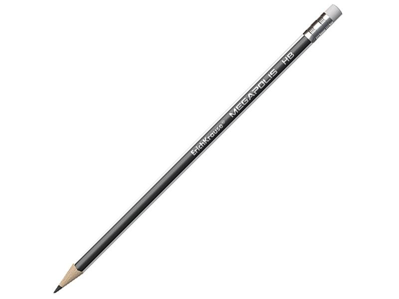 Карандаш графитовый Erich Krause Megapolis 188 мм карандаш графитовый stabilo 181095 othello 188 мм