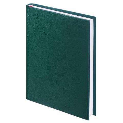Ежедневник BRAUBERG недатированный, А5, 138х213 мм, Select, под зернистую кожу, 160 л., зеленый ежедневник brauberg недатированный а5 138х213 мм iguana под змеиную кожу 160 л черный