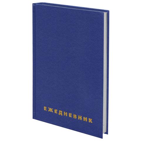 Картинка для Ежедневник BRAUBERG недатированный, А5, 145х215 мм, 160 л., обложка бумвинил, синий, 123327