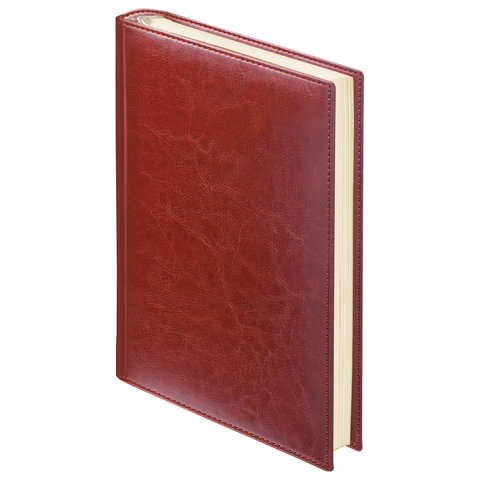 Ежедневник BRAUBERG недатированный, А6, 100х150 мм, Imperial, под гладкую кожу, 160 л., коричневый ежедневник brauberg imperial а5 160 листов недатированный коричневый