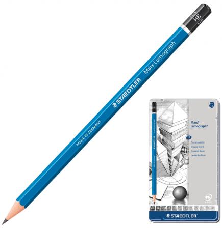 купить Карандаш графитовый Staedtler Mars Lumograph 12 шт 175 мм 181146 дешево