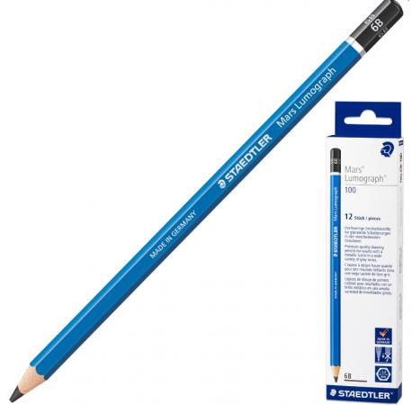 купить Карандаш графитовый Staedtler Mars Lumograph 6B 175 мм дешево