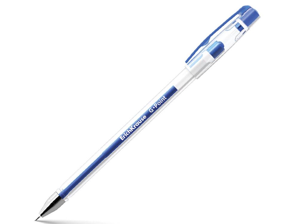 Ручка гелевая ERICH KRAUSE G-Point, игольчатый узел 0,38 мм, линия письма 0,25 мм, синяя ручка гелевая erich krause g point игольчатый узел 0 38 мм линия письма 0 25 мм синяя