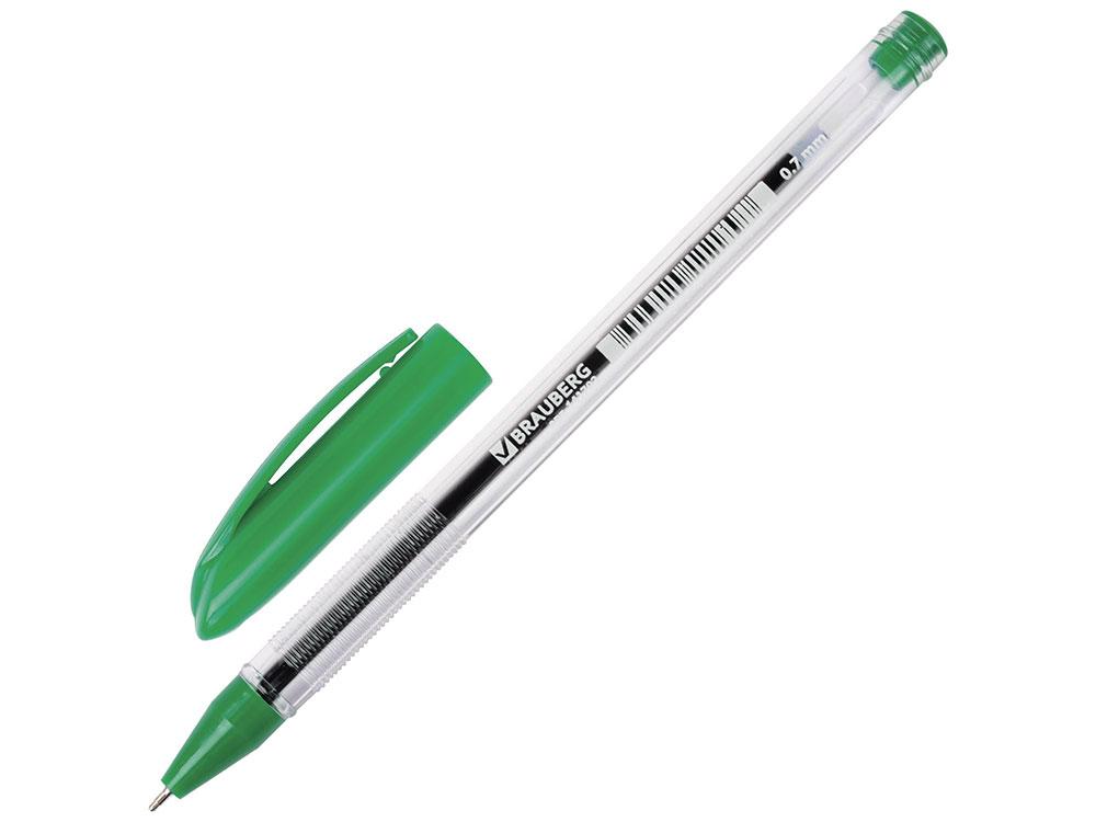 Ручка шариковая масляная BRAUBERG Rite-Oil зеленая, узел 0,7 мм, линия письма 0,35 мм