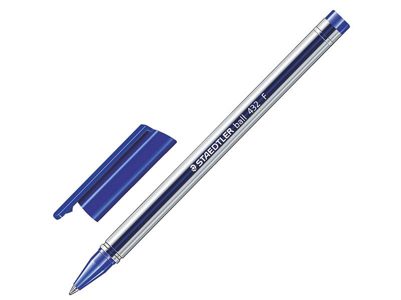 Ручка шариковая STAEDTLER Ball, трехгранная, корпус прозрачный, узел 1 мм, линия 0,5 мм, синяя ручка капиллярная staedtler triplus broadliner 338 box338 30 цвет чернил голубой 10 шт