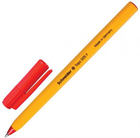 Шариковая ручка шариковая SCHNEIDER Ручка шариковая Tops 505 F красный 0.4 мм ручка вартнер
