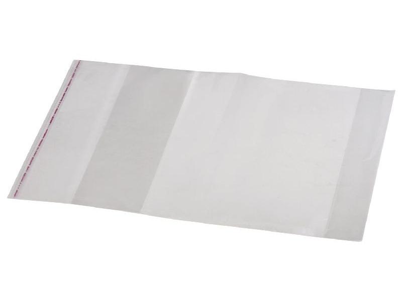 Обложка ПП для учебника и тетради А4, универсальная, прозрачная, клейкий край, 80 мкм, 300х500 мм фортуна обложка для учебника