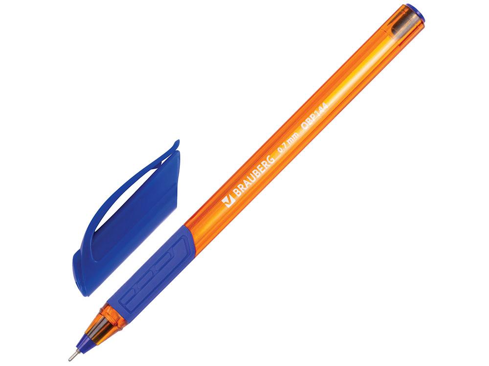 Ручка шариковая масляная BRAUBERG Extra Glide GT Tone Orange, синяя, узел 0,7 мм, линия письма 0,35 ручка шариковая масляная brauberg extra glide gt tone синяя узел 0 7 мм линия письма 0 35 мм