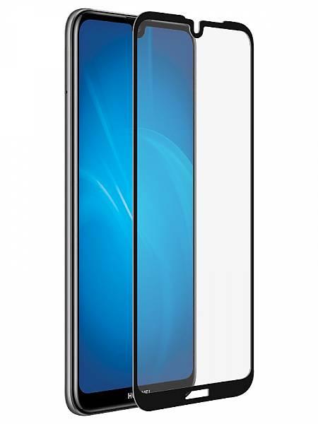 Закаленное стекло с цветной рамкой (fullscreen) для Huawei Y5 (2019)/Honor 8S DF hwColor-91 (black) цена и фото
