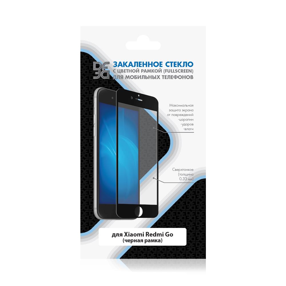 Закаленное стекло с цветной рамкой (fullscreen) для Xiaomi Redmi Go xiColor-52 (black) закаленное стекло с цветной рамкой fullscreen для huawei y9 2018 df hwcolor 42 black