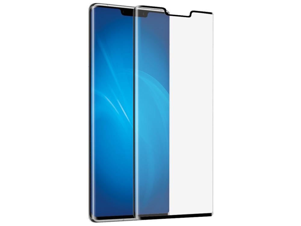Закаленное стекло 3D DF hwColor-109 black с цветной рамкой для Huawei Mate 30 Pro цена и фото
