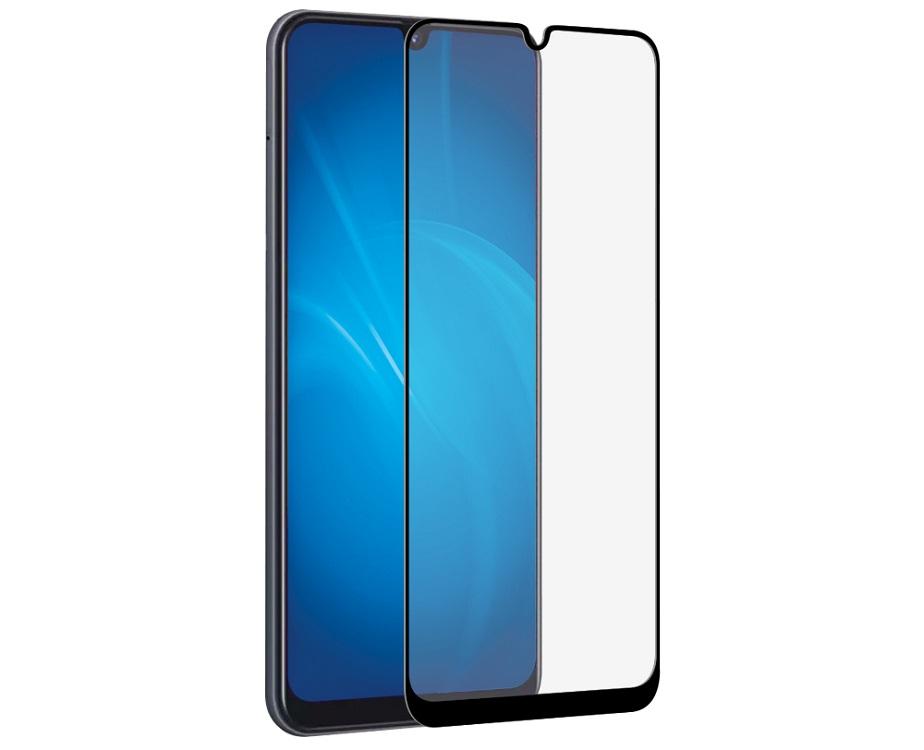 Закаленное стекло 3D DF sColor-65 black с цветной рамкой (fullscreen+fullglue) для Samsung Galaxy A20/A30/A50/A30s/A50s закаленное стекло 3d с цветной рамкой fullscreen для iphone xs max df icolor 18 black
