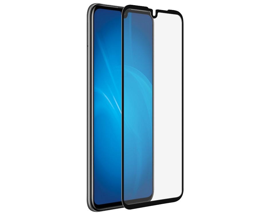 Закаленное стекло с цветной рамкой DF hwColor-92 black (fullscreen + fullglue) для Huawei P30 Lite/Honor 20S цена и фото