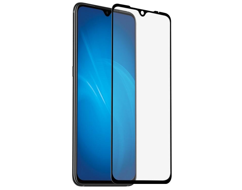 Закаленное стекло с цветной рамкой DF xiColor-53 (black) (fullscreen + fullglue) для Xiaomi Mi 9/Mi 9 Lite/CC9