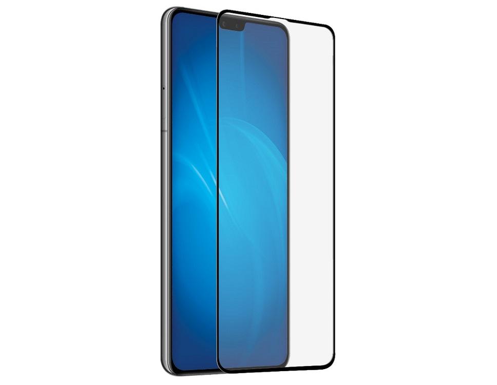 Закаленное стекло с цветной рамкой DF hwColor-108 black (fullscreen) для Huawei Mate 30 закаленное стекло с цветной рамкой fullscreen для huawei y9 2018 df hwcolor 42 black