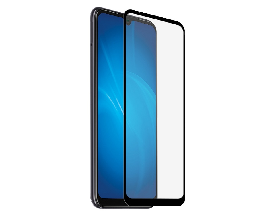 Закаленное стекло с цветной рамкой DF xiColor-65 black (fullscreen) для Xiaomi Mi A3/CC9E