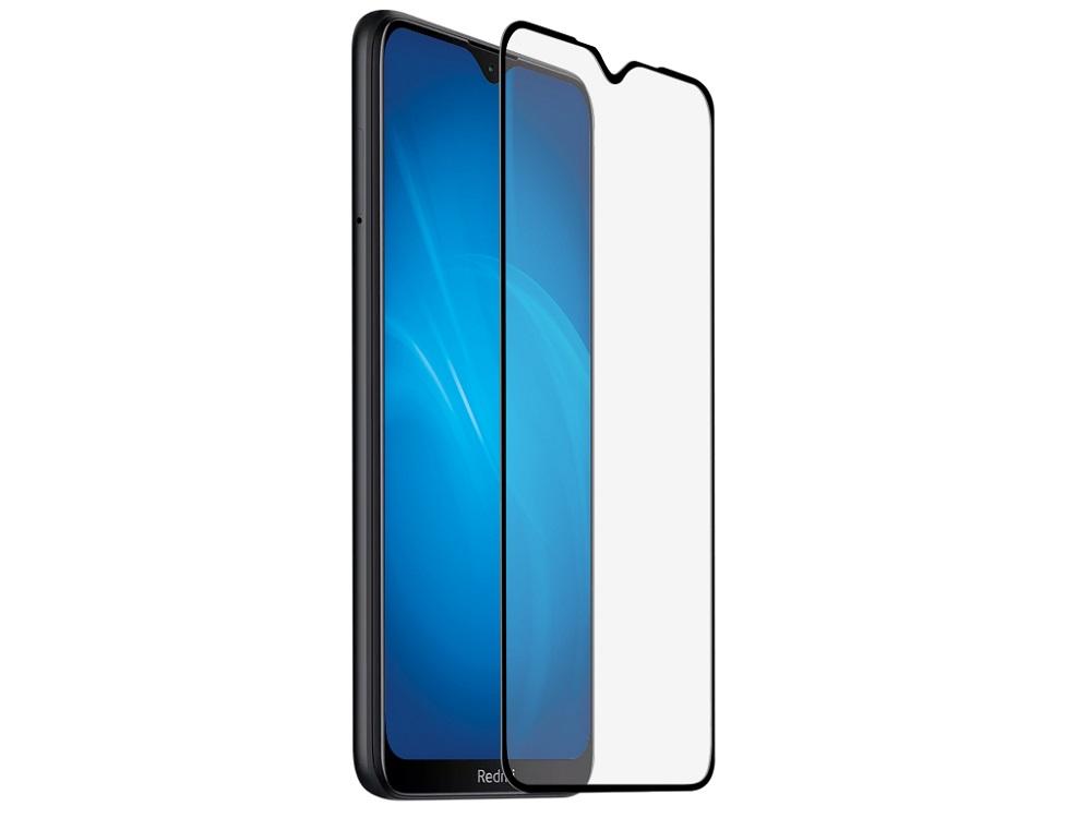 Закаленное стекло с цветной рамкой DF xiColor-71 black (fullscreen) для Xiaomi Redmi 8/Redmi 8A защитное стекло df xicolor 11 для xiaomi mi 5c с рамкой белый