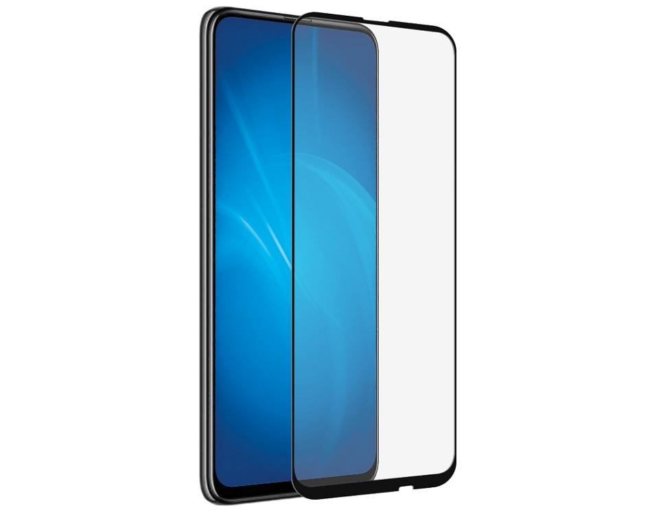 Закаленное стекло с цветной рамкой DF hwColor-101 black (fullscreen+fullglue) для Huawei P Smart Z/ Honor 9X/ Y9s цена и фото