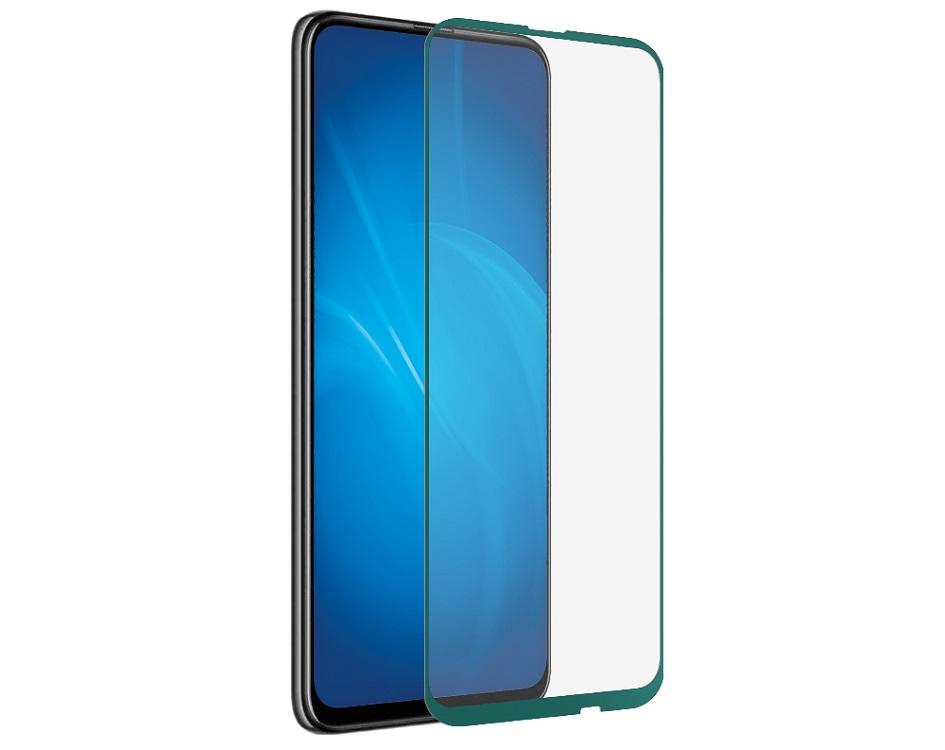 Закаленное стекло с цветной рамкой DF hwColor-101 green (fullscreen+fullglue) для Huawei P Smart Z/ Honor 9X/ Y9s цена и фото