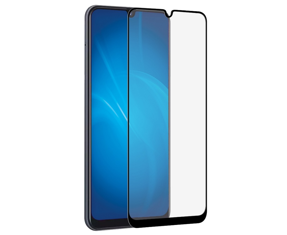 Закаленное стекло с цветной рамкой DF sColor-66 black (fullscreen+fullglue) для Samsung Galaxy A20/A30/A50/A30s/A50s закаленное стекло с цветной рамкой fullscreen для nokia 5 1 2018 df nkcolor 16 black