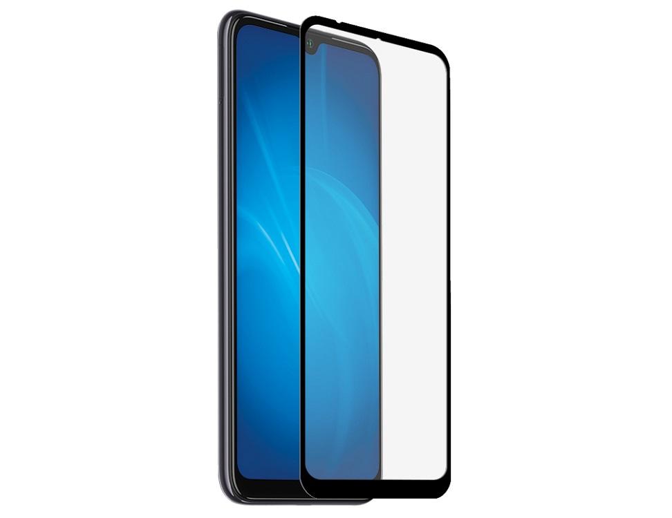 Закаленное стекло с цветной рамкой DF xiColor-66 black (fullscreen+fullglue) для Xiaomi Mi A3/CC9E защитное стекло df xicolor 11 для xiaomi mi 5c с рамкой белый